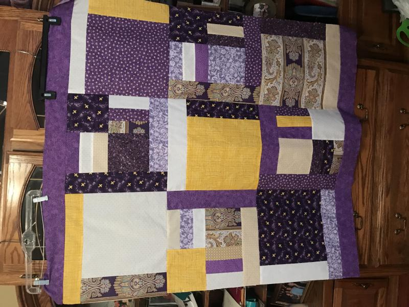 Purple and Gold Quilt
