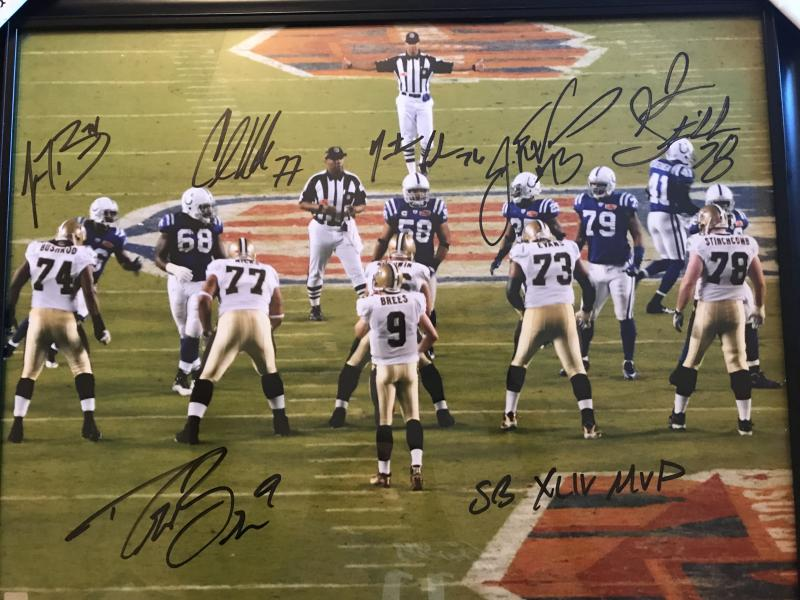 Saints Brees and Line Superbowl