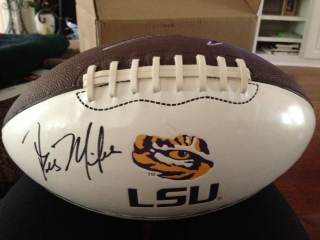 LSU Football signed by Coach